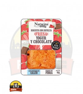 GALLETAS NATWINS FRESA, YOGUR Y CHOCOLATE 45G 16 UDS