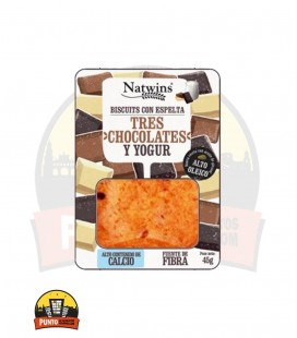 GALLETAS NATWINS TRES CHOCOLATES Y YOGUR 45G 16 UDS