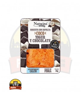 GALLETAS NATWINS COCO, YOGUR Y CHOCOLATE 45G 16 UDS