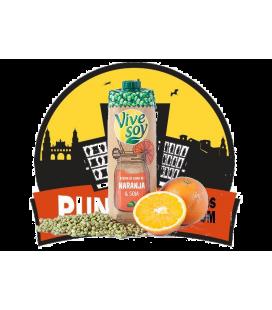 Vivesoy Soja con zumo Naranja  1L.  6 Uds