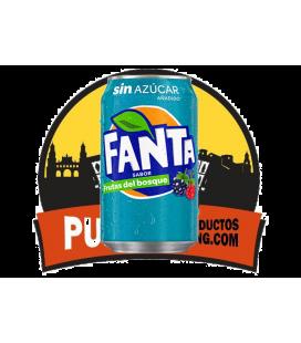 Fanta Sin azucar- sabor Frutas del Bosque 330 ML 12 uds
