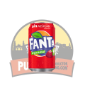 Fanta Sin azucar- sabor Fresa y Kiwi 330 ML 12 UDS