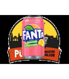 Fanta Sin azucar- sabor Melocotón y Albaricoque 330 ML 12 UDS