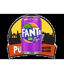 Fanta Sin azucar- sabor Uva 330 ML 24 UDS ( Dejate Sorprender )