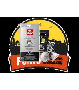 Forte Espresso illy  Pack de 10 Cajas de 10 Capsulas ( Compatibles con Maquinas de Cafe Nespresso )