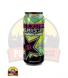 Rockstar Supersours Green Apple 500ML 12UNDS (Tarificado 1 € )