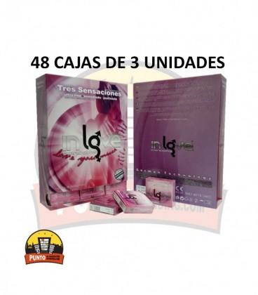 Preservativos IN LOVE 3 Texturas 48x3x144 UNDS