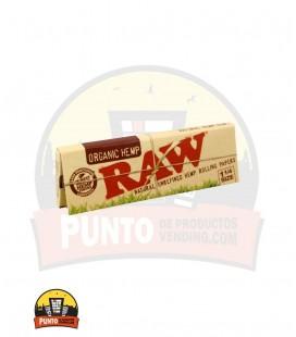 Papel de fumar orgánico RAW ¼ Caja 24 unds.