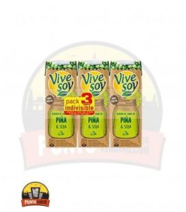 Vivesoy Zumo de Soja y Piña 250ML 3UNDS