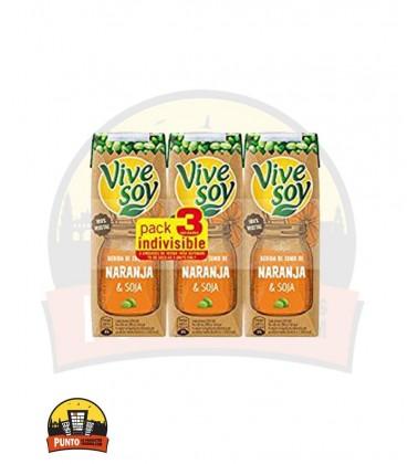 Vivesoy Zumo de Soja y Naranja 250ML 3UNDS